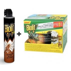 Biolit Plus Stop pavoukům sprej 400 ml + lapač na vosy, sršňě a muchy komplet 200 ml