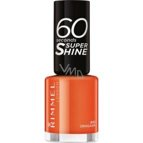 Rimmel London 60 Seconds Super Shine Nail Polish lak na nehty 403 Oragasm 8 ml
