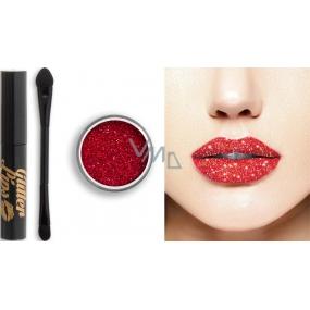 Glitter Lips dlouhotrvající lesk na rty se třpytkami Ruby Slippers 3,5 ml