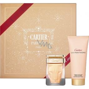 Cartier La Panthere parfémovaná voda 50 ml + tělový krém 100 ml, kosmetická sada