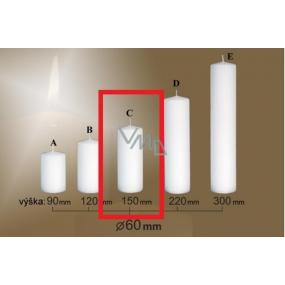 Lima Gastro hladká svíčka bílá válec 60 x 150 mm 1 kus