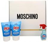 Moschino Fresh Couture toaletní voda 5 ml + sprchový gel 25 ml + tělové mléko 25 ml, dárková sada