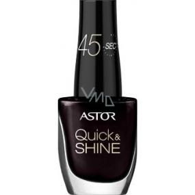 Astor Quick & Shine Nail Polish lak na nehty 616 Dark Chocolate 8 ml
