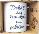 Bohemia Gifts Keramický hrnek s potiskem Dokáži odolat čemukoli, krom pokušení 350 ml