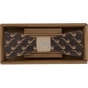 Bohemia Gifts Dřevěný motýlek Sailor 12,5 cm
