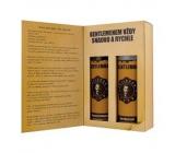 Bohemia Gifts & Cosmetics Gentleman Olivový olej sprchový gel 200 ml + šampon na vlasy 200 ml, kniha kosmetická sada