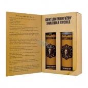 Bohemia Gifts Gentleman Olivový olej sprchový gel 200 ml + šampon na vlasy 200 ml, kniha kosmetická sada