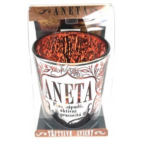 Albi Třpytivý svícenze skla na čajovou svíčku ANETA, 7 cm