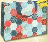 Nekupto Dárková papírová taška s ražbou velká 30 x 23 x 12 cm Vánoční 1739 WLFL