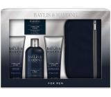 Baylis & Harding Limetka a Máta 2v1 šampon a sprchový gel 300 ml + toaletní mýdlo 150 g + balzám po holení 130 ml + sprchový gel 130 ml + toaletní taška, kosmetická sada pro muže