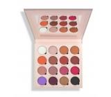 Makeup Obsession paletka mix 16 pigmentovaných očních stínů, z toho 7 matných, 6 lesklých a 2 matné se třpytkami odstín Belle Jorden 20,8 g