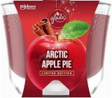 Glade Maxi Arctic Apple Pie s vůní jablka, skořice a muškátového oříšku vonná svíčka ve skle, doba hoření až 52 hodin 224 g