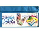 Donau Gimboo školní pouzdro se zipem modré zebra 22 x 12 cm
