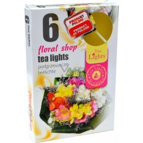 Tea Lights Floral shop s vůní květinového obchodu vonné čajové svíčky 6 kusů