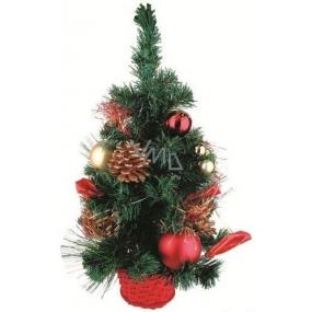 Stromek v košíku červený dekor 45 cm