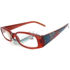 Berkeley Čtecí dioptrické brýle +3,5 hnědé s kytkama CB02 1 kus ER4130