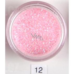 Ocean Crystaline sypký glitr na nehty, tělo, obličej 12 růžový třpyt 2 g