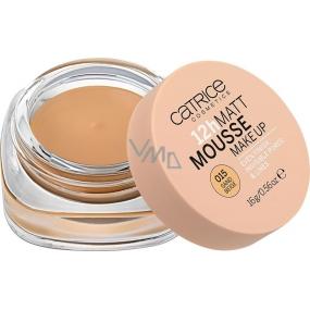 Catrice Matt Mousse 12h Make Up matující pěnový make-up 015 Sand Beige 16 g