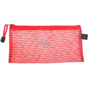 Etue Průhledná - hranatá fialová nebo červená 23 x 11 x 1 cm 70150