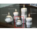 Lima Elegance White svíčka stříbrná koule 60 mm 1 kus