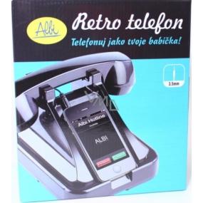 Albi Retro telefon na mobil černý 18 x 14,5 x 12,5 cm
