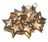 Emos Osvětlení vánoční řetěz hvězdy 3D, 1,35 m, 10 LED, teplá bílá + 0,3 m přívodní kabe