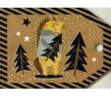 Nekupto Vánoční kartičky na dárky kůň 5,5 x 7,5 cm 6 kusů