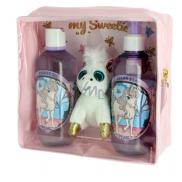 Vivian Gray Baby Pearly krémové tekuté mýdlo pro děti 250 ml + sprchový gel 250 ml + plyšová hračka, kosmetická sada
