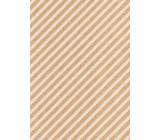 Ditipo Dárkový balicí papír 70 x 200 cm KRAFT Bílé pruhy