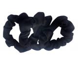 Gumičky do vlasů textilní černé 7 cm 3 kusy