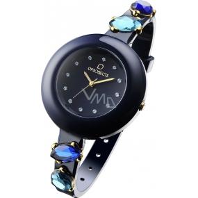 Ops! Objects Stone Watches hodinky OPSPW-174 tmavě modrá