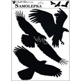 Samolepka siluety ptáci č.2 42 x 30 cm
