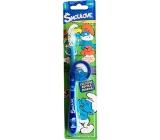 Šmoulové Soft 3D zubní kartáček pro děti s krytkou