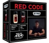 Str8 Red Code parfémovaný deodorant sklo pro muže 85 ml + sprchový gel 250 ml, kosmetická sada