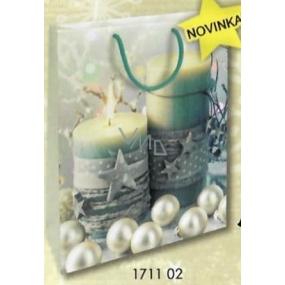 Nekupto Dárková papírová taška 32,5 x 26 x 13 cm Vánoční 1711 02 WBL