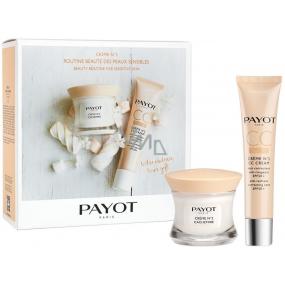 Payot Créme No.2 Cachemire výživný zklidňující krém pro citlivou pleť se sklonem ke zčervenání 50 ml + Créme No.2 CC Cream SPF 50+ CC krém proti zarudnutí pleti 40 ml, kosmetická sada