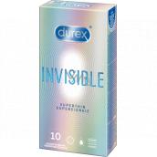 Durex Invisible Superthin nejtenčí kondom, pro maximální citlivost, nominální šířka: 54 mm 10 kusů