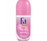 Fa Pink Passion Pink Rose Scent 48h kuličkový deodorant roll-on pro ženy 50 ml