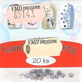 Professional Ozdoby na nehty kamínky hvězdičky světle fialové 20 kusů