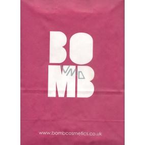 DÁREK Bomb Cosmetics papírová taška velká růžová 34 x 25,5 x 12 cm