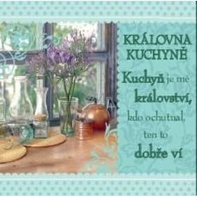 Albi Dárková kuchyňská utěrka s potiskem - Královna kuchyně 70 x 35 cm