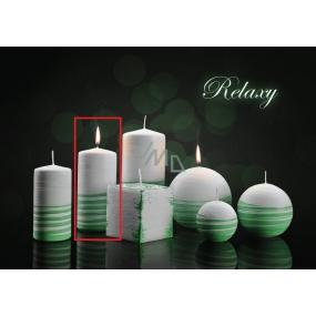 Lima Aromatická spirála Relaxy svíčka bílo - zelená válec 60 x 120 mm 1 kus