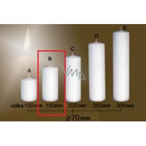 Lima Gastro hladká svíčka bílá válec 70 x 150 mm 1 kus