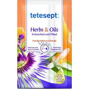 Tetesept Herbs & Oil Mučenka + Pomeranč sůl do koupele s pečujícími oleji 60 g + 15 ml