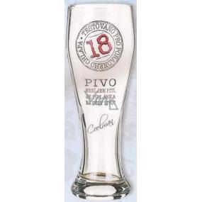 Nekupto Dárky s humorem Pivní sklenice humorné Výročí 18 0,6 l WH 013