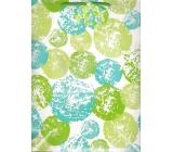 Nekupto Dárková papírová taška velká 32,5 x 26 x 13 cm bílo-zelená 1379 50 KFL
