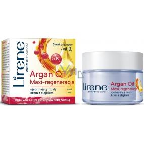 Lirene Essential Oils Argan Arganový olej intenzivní regenerační krém pro suchou pleť 50 ml
