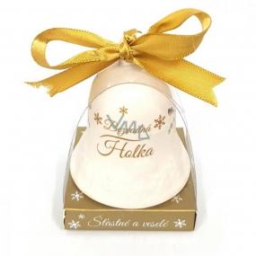 Nekupto Vánoční keramický zvoneček s nápisem Bezvadná holka 6,5 cm, x 5,5 cm