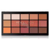 Makeup Revolution Re-Loaded paletka očních stínů Iconic Fever 15 x 1,1 g