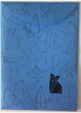 Albi Pouzdro na dokumenty modré Origami A6 - 105 x 148 mm